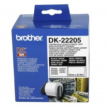 Brother Original DK22205 Continuous Black On White Labelling Tape (DK-22205)