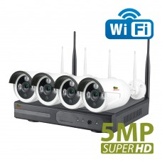 5.0MP Outdoor Wi-Fi set IP-31 4xCAM + 1xNVR (v. 1.0)