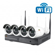 2.0MP Outdoor Wi-Fi set IP-37 4xCAM + 1xNVR (v1.1)