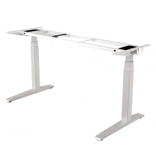 Levado™ Adjustable Desk (Base Only) - Silver / White