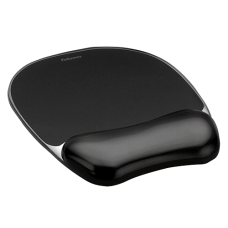 Fellowes BLACK CRYSTALS MOUSEPAD WRIST REST