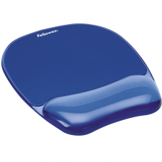 Fellowes CRYSTAL BLUE MOUSEPAD & WRIST REST