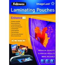 Fellowes 100 Pack of A3 80 Micron Glossy Laminating Pouches (53062)