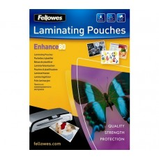 Fellowes 100 Pack of A3 80 Micron Adhesive Back Glossy Laminating Pouches (53023)