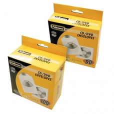 Fellowes 100 Pack of White CD Paper Envelopes (90691)