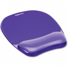 Fellowes Crystals Purple Gel Mouse Pad and Wrist Rest (91441)
