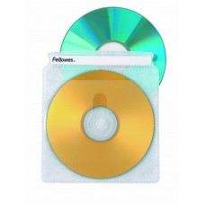 Fellowes 25 Pack of Double-Sided CD/DVD Sleeves (90661)