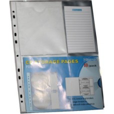 CD POCKET x1 PVC PERFORATED BINDERMAX