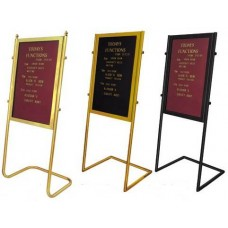 LOBBY CASE 60x90cm BURGUNDY WITH GOLD FRAME