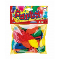 BALLOONS ASSORTED COLOURS x25 75/80