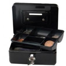 CASH BOX BLACK 8in/20cm