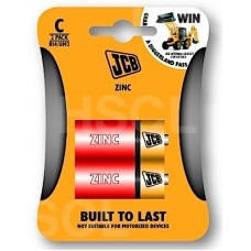 BATTERIES ZINC (C) MEDIUM x2 JCB