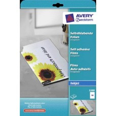 INKJET SELF-ADHESIVE FILM A4 x10 AVERY-ZWECKFORM