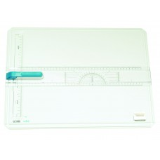 DRAWING BOARD COMPLETE WITH RULER/ HEAD/CASE