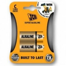 BATTERIES ALKALINE (C) MEDIUM x2 JCB