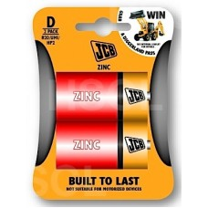 BATTERIES ZINC (D) LARGE x2 JCB