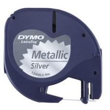 DYMO LETRA TAG LABEL METALLIC 12mm x 4m