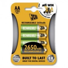 BATTERIES AA RECHARGEABLE 2650MAH x4 JCB
