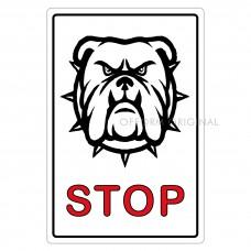SIGN FOIL 9x13.5cm BEWARE OF DOG