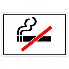 SIGN FOIL 9x13.5cm NO SMOKING