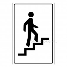 SIGN FOIL 9x13.5cm STAIRCASE
