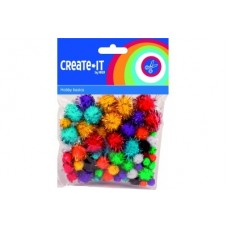 CRAFTS POMPOMS GLITTER x78