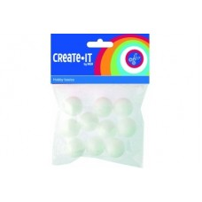 CRAFTS BALLS POLYSTYRENE 25mm x10