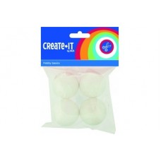 CRAFTS BALLS POLYSTYRENE 45mm x4