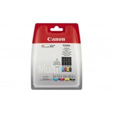 Canon Original 4 Colour CLI-551 Ink Cartridge Multipack (CLI-551BK/C/M/Y)