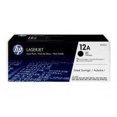 HP Original 2 Pack of Black 12A LaserJet Toner Cartridges (Q2612AD)