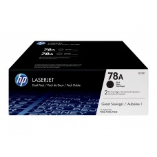 HP Original 2 Pack of Black 78A LaserJet Toner Cartridges (CE278AD)